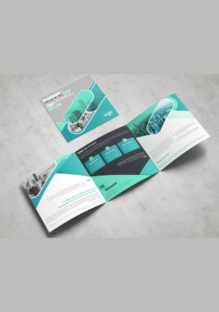 Square Business Tri fold Brochure