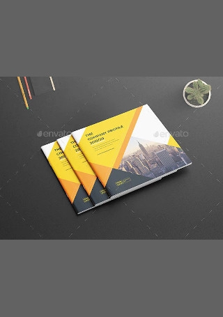 Square Company Profile Brochure in Vector EPS