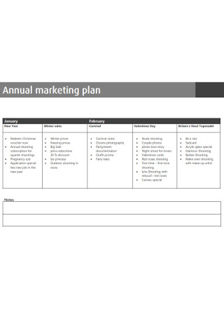 Standard Annual Marketing Plan