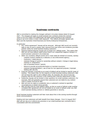 Standard Business Contract