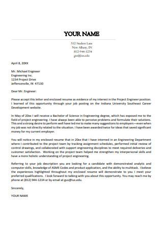 Standard Cover Letter