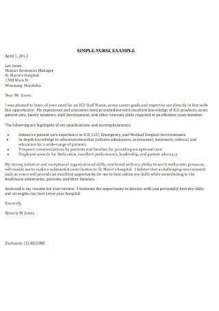 Standard HR Manager Cover Letter Sample