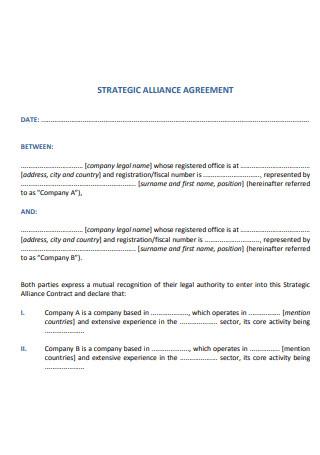 Strategic Alliance Agreement