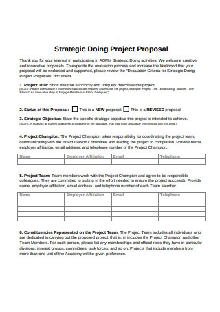 Strategic Doing Project Proposal