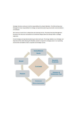 Strategic and Operational Plan Sample