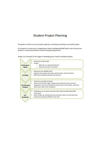Student Project Planning Sample