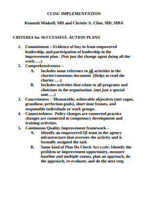 Successful Action Plan