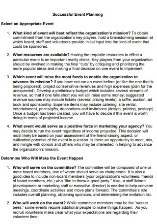 Successful Event Marketing Plan Sample