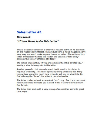 The Greatest Sales Letters
