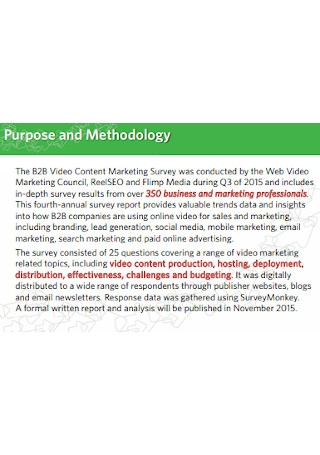 Video Content Marketing Survey