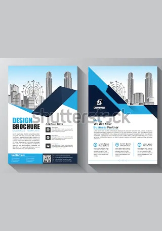 Vintage Business Brochure in Vector EPS
