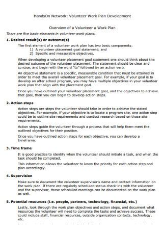 Volunteer Work Devolopment Plan