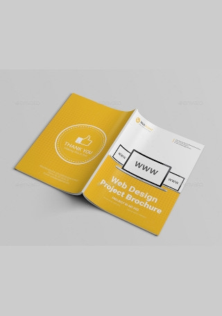 Web Design Brochure in Vector EPS