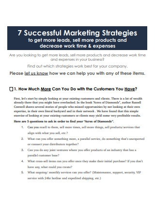 7 Successful Marketing Strategies