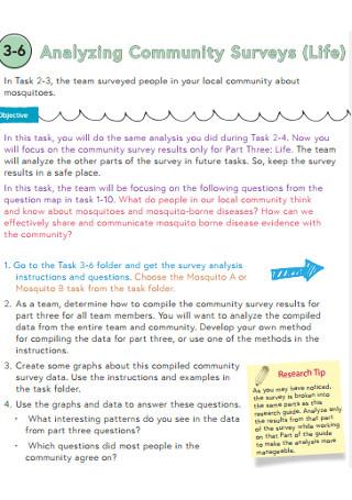 Analyzing Community Surveys