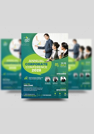 Annual Corporate Conference Flyer InDesign