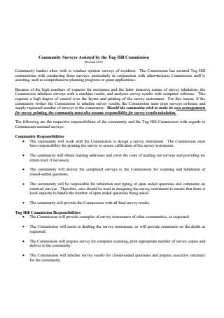 Assisted Community Surveys