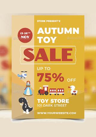 Autumn Sale Flyer in Vector EPS