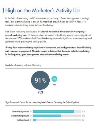 B2B Event Marketing Survey Report