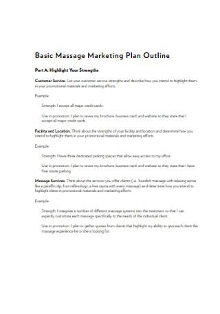 Basic Massage Marketing Plan Outline