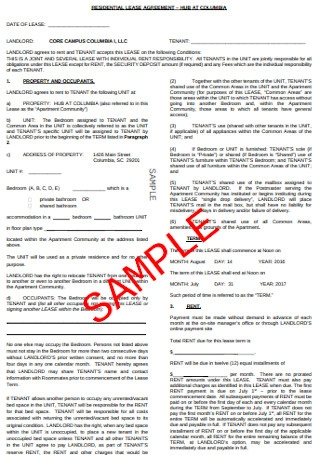 Basic Residential Lease Agreement1