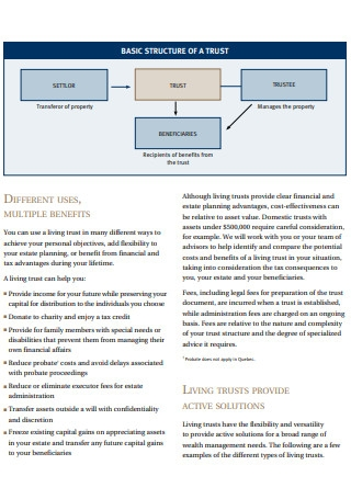 Basic Structure of Living Trusts