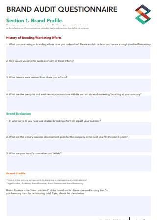 Brand Audit Questionnaire