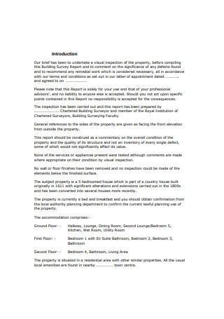 Building Property Survey