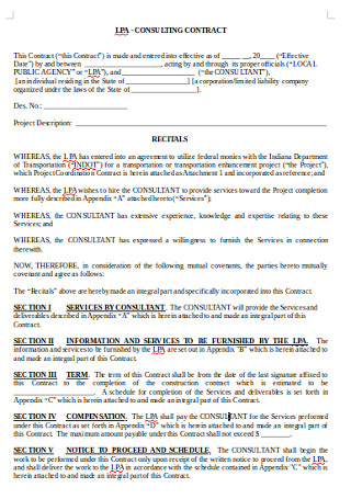 Busines Consulting Contract in DOC