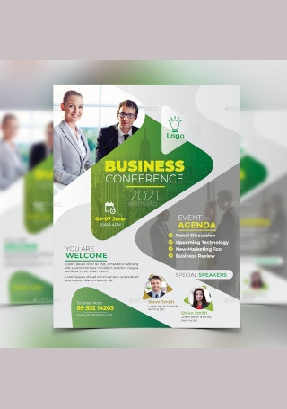 Business Conference Flyer in Vector EPS
