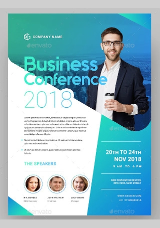 Business Conference Flyer in Vector EPS1