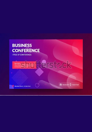 Business Conference Invitation Flyer