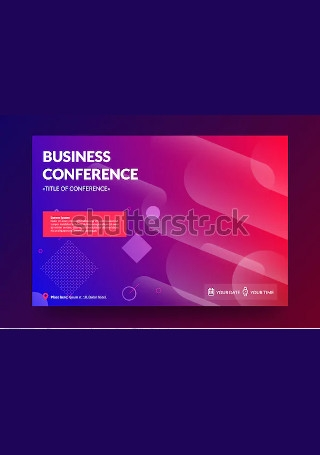 Business Conference Invitation InDesign