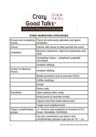 Business Event Marketing Strategies1