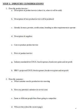 Business Feasibility Questions