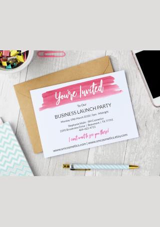 Business Invitation InDesign