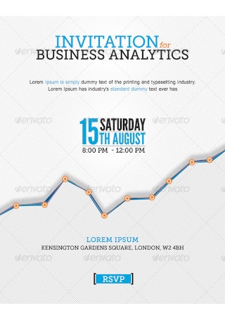 Business Invitation in Vector EPS