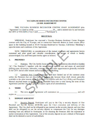 Business Lease Agreement