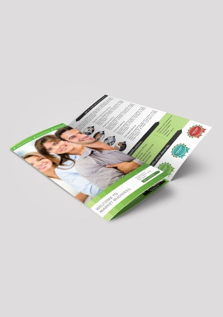 Business Marketing Trifold Brochure Sample