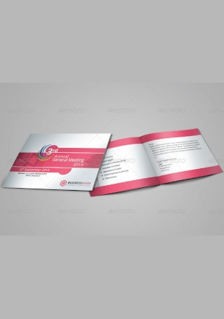 Business Meeting Invitation InDesign
