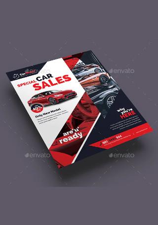 Car Sale Flyer in Vector EPS