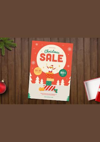 Christmas Sale Flyer InDesign