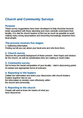 Church and Community Surveys