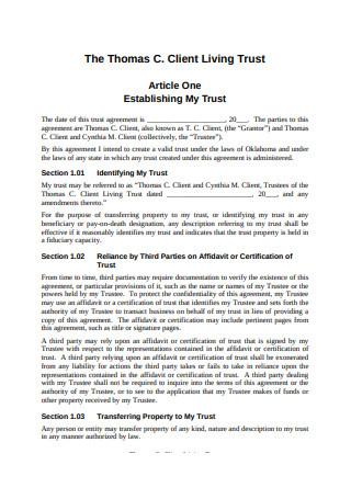 Client Living Trust