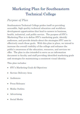 College Marketing Plan