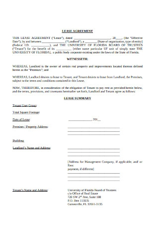 Commercial Landlord Lease Agreement