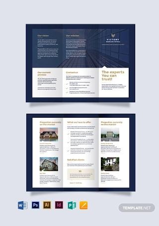 Commercial Real Estate Company Tri fold Brochure Template