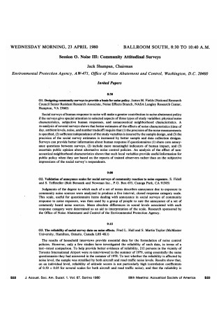 Community Attitudinal Surveys