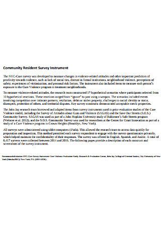 Community Resident Survey Instrument