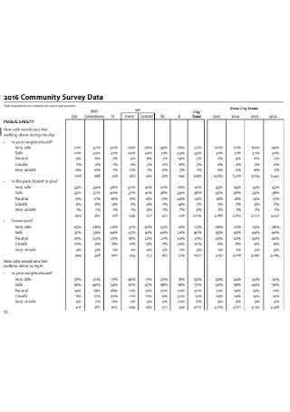 Community Survey Data